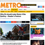 Article about Skate 4 on Metro.co.uk